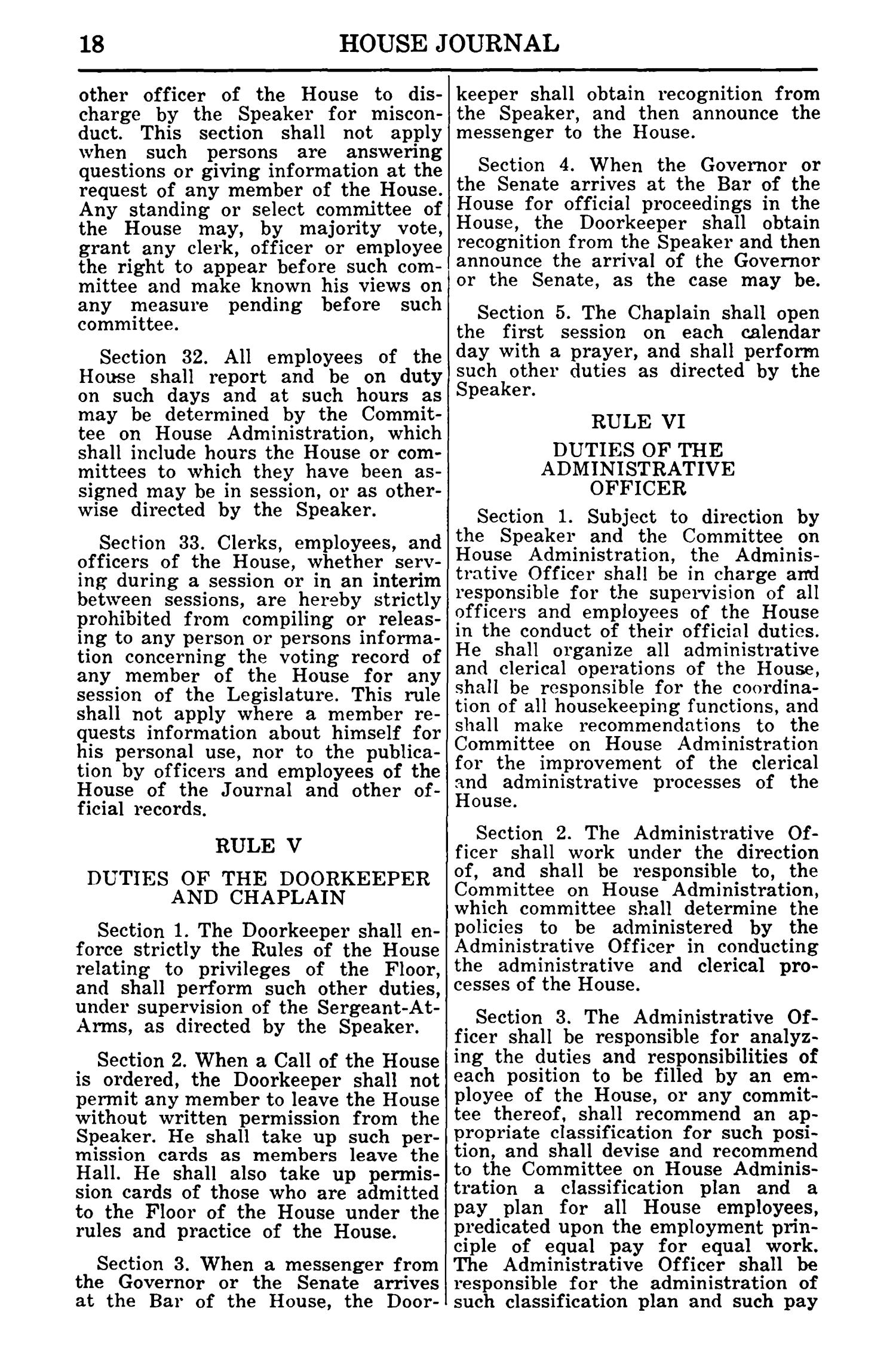 Journal of the House of Representatives of the Regular Session of the Sixtieth Legislature of the State of Texas, Volume 1                                                                                                      18