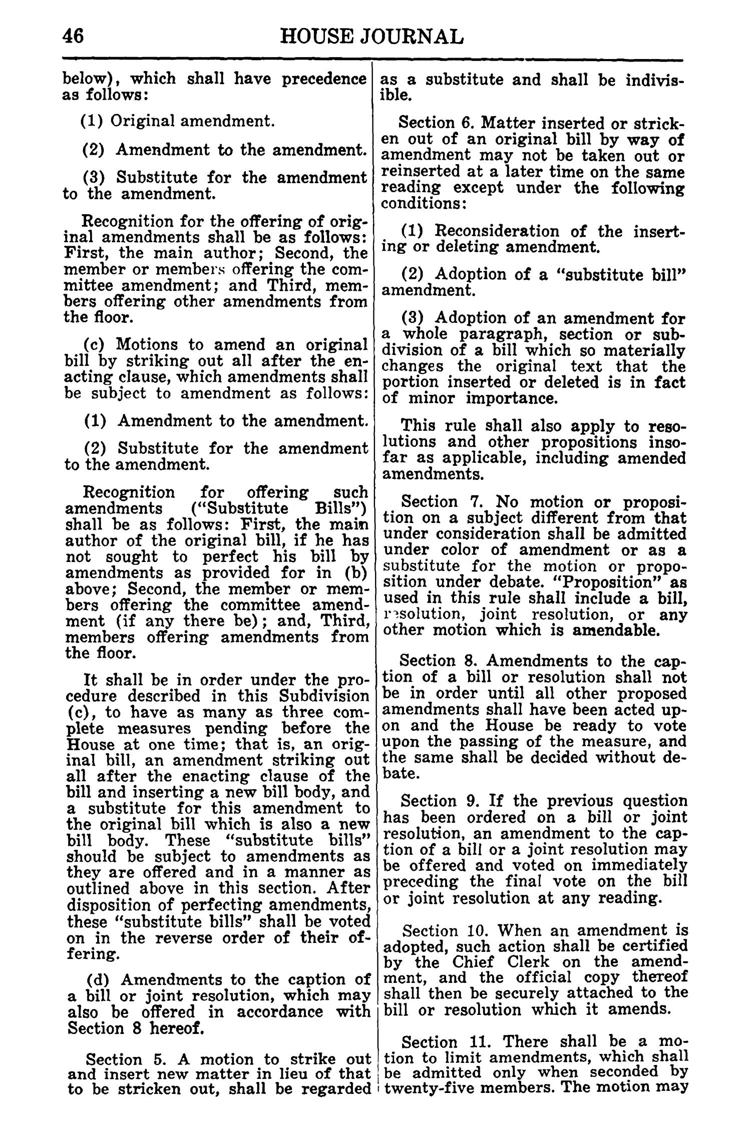 Journal of the House of Representatives of the Regular Session of the Sixtieth Legislature of the State of Texas, Volume 1                                                                                                      46