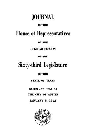 Primary view of object titled 'Journal of the House of Representatives of Regular Session of the Sixty-Third Legislature of the State of Texas, Volume 2'.