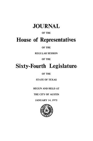 Primary view of object titled 'Journal of the House of Representatives of the Regular Session of the Sixty-Fourth Legislature of the State of Texas, Volume 1'.