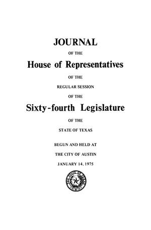 Journal of the House of Representatives of the Regular Session of the Sixty-Fourth Legislature of the State of Texas, Volume 2