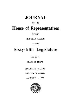 Primary view of object titled 'Journal of the House of Representatives of the Regular Session of the Sixty-Fifth Legislature of the State of Texas, Volume 2'.
