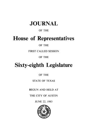 Primary view of object titled 'Journal of the House of Representatives of the Sixty-Eighth Legislature of the State of Texas, Volume 5: First and Second Called Sessions'.