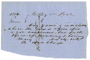 Primary view of object titled 'Documents pertaining to the case of The State of Texas vs. John A. Green, cause no. 316, 1853'.