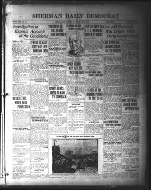 Primary view of object titled 'Sherman Daily Democrat (Sherman, Tex.), Vol. 39, No. 292, Ed. 1 Thursday, July 8, 1920'.