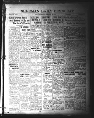 Primary view of object titled 'Sherman Daily Democrat (Sherman, Tex.), Vol. 39, No. 297, Ed. 1 Wednesday, July 14, 1920'.