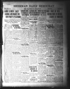 Primary view of object titled 'Sherman Daily Democrat (Sherman, Tex.), Vol. 39, No. 298, Ed. 1 Thursday, July 15, 1920'.