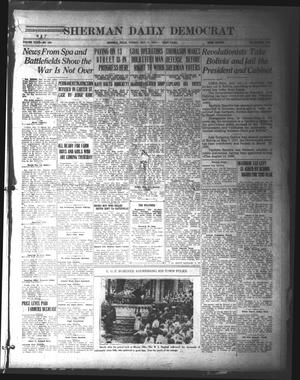 Primary view of object titled 'Sherman Daily Democrat (Sherman, Tex.), Vol. 39, No. 296, Ed. 1 Tuesday, July 13, 1920'.
