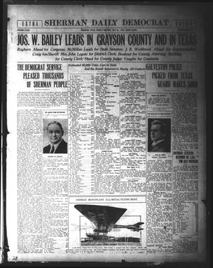 Primary view of object titled 'Sherman Daily Democrat (Sherman, Tex.), Vol. 39, Ed. 1 Sunday, July 25, 1920'.