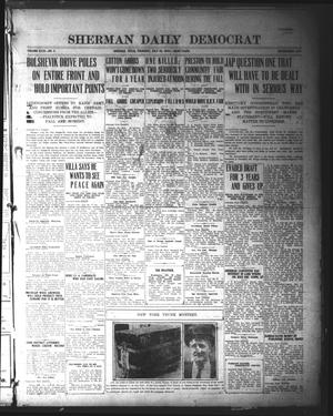 Primary view of object titled 'Sherman Daily Democrat (Sherman, Tex.), Vol. 40, No. 3, Ed. 1 Thursday, July 29, 1920'.