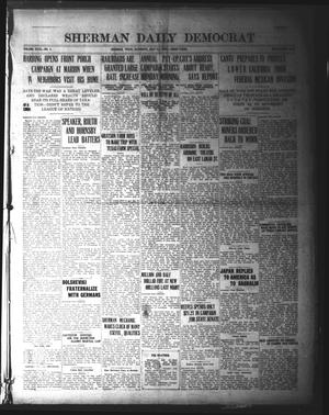 Sherman Daily Democrat (Sherman, Tex.), Vol. 40, No. 5, Ed. 1 Saturday, July 31, 1920