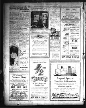 Primary view of object titled 'Sherman Daily Democrat (Sherman, Tex.), Vol. 40, No. 10, Ed. 1 Friday, August 6, 1920'.
