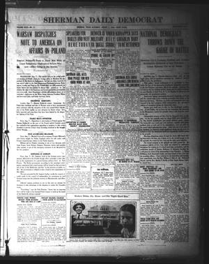 Primary view of object titled 'Sherman Daily Democrat (Sherman, Tex.), Vol. 40, No. 11, Ed. 1 Saturday, August 7, 1920'.