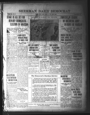 Primary view of object titled 'Sherman Daily Democrat (Sherman, Tex.), Vol. 40, No. 28, Ed. 1 Friday, August 27, 1920'.