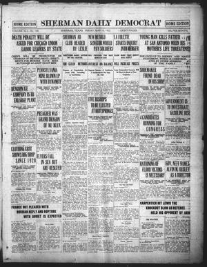 Primary view of object titled 'Sherman Daily Democrat (Sherman, Tex.), Vol. 41, No. 264, Ed. 1 Friday, May 12, 1922'.