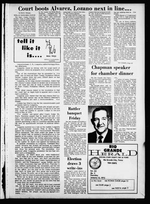 Primary view of object titled 'Rio Grande Herald (Rio Grande City, Tex.), Vol. 20, No. 2, Ed. 1 Thursday, January 13, 1972'.