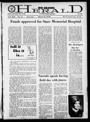 Rio Grande Herald (Rio Grande City, Tex.), Vol. 21, No. 11, Ed. 1 Thursday, March 16, 1972