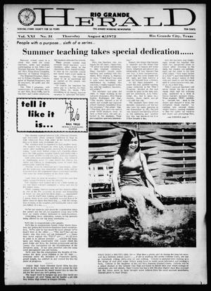 Rio Grande Herald (Rio Grande City, Tex.), Vol. 21, No. 31, Ed. 1 Thursday, August 3, 1972