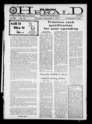 Rio Grande Herald (Rio Grande City, Tex.), Vol. 31, No. 44, Ed. 1 Thursday, December 6, 1973