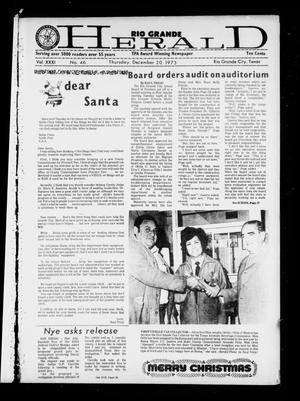 Rio Grande Herald (Rio Grande City, Tex.), Vol. 31, No. 46, Ed. 1 Thursday, December 20, 1973