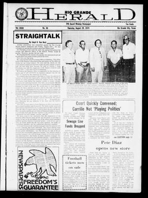 Primary view of object titled 'Rio Grande Herald (Rio Grande City, Tex.), Vol. 32, No. 46, Ed. 1 Thursday, August 29, 1974'.