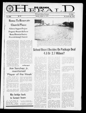 Primary view of object titled 'Rio Grande Herald (Rio Grande City, Tex.), Vol. 32, No. 52, Ed. 1 Thursday, October 10, 1974'.