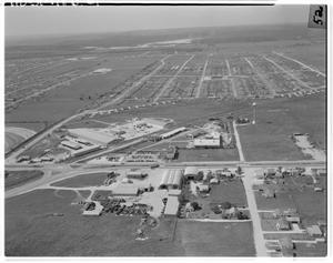 Primary view of object titled '[Aerial view of Jefferson Chemical Plant]'.