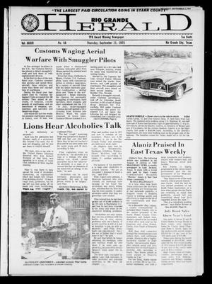 Primary view of object titled 'Rio Grande Herald (Rio Grande City, Tex.), Vol. 33, No. 48, Ed. 1 Thursday, September 11, 1975'.