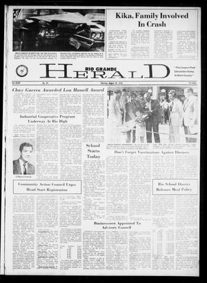 Primary view of object titled 'Rio Grande Herald (Rio Grande City, Tex.), Vol. 34, No. 44, Ed. 1 Thursday, August 19, 1976'.