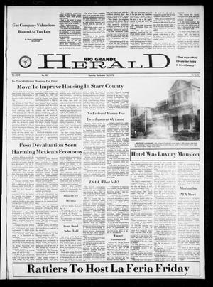 Primary view of object titled 'Rio Grande Herald (Rio Grande City, Tex.), Vol. 34, No. 48, Ed. 1 Thursday, September 16, 1976'.