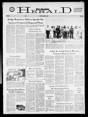 Primary view of object titled 'Rio Grande Herald (Rio Grande City, Tex.), Vol. 34, No. 51, Ed. 1 Thursday, October 7, 1976'.