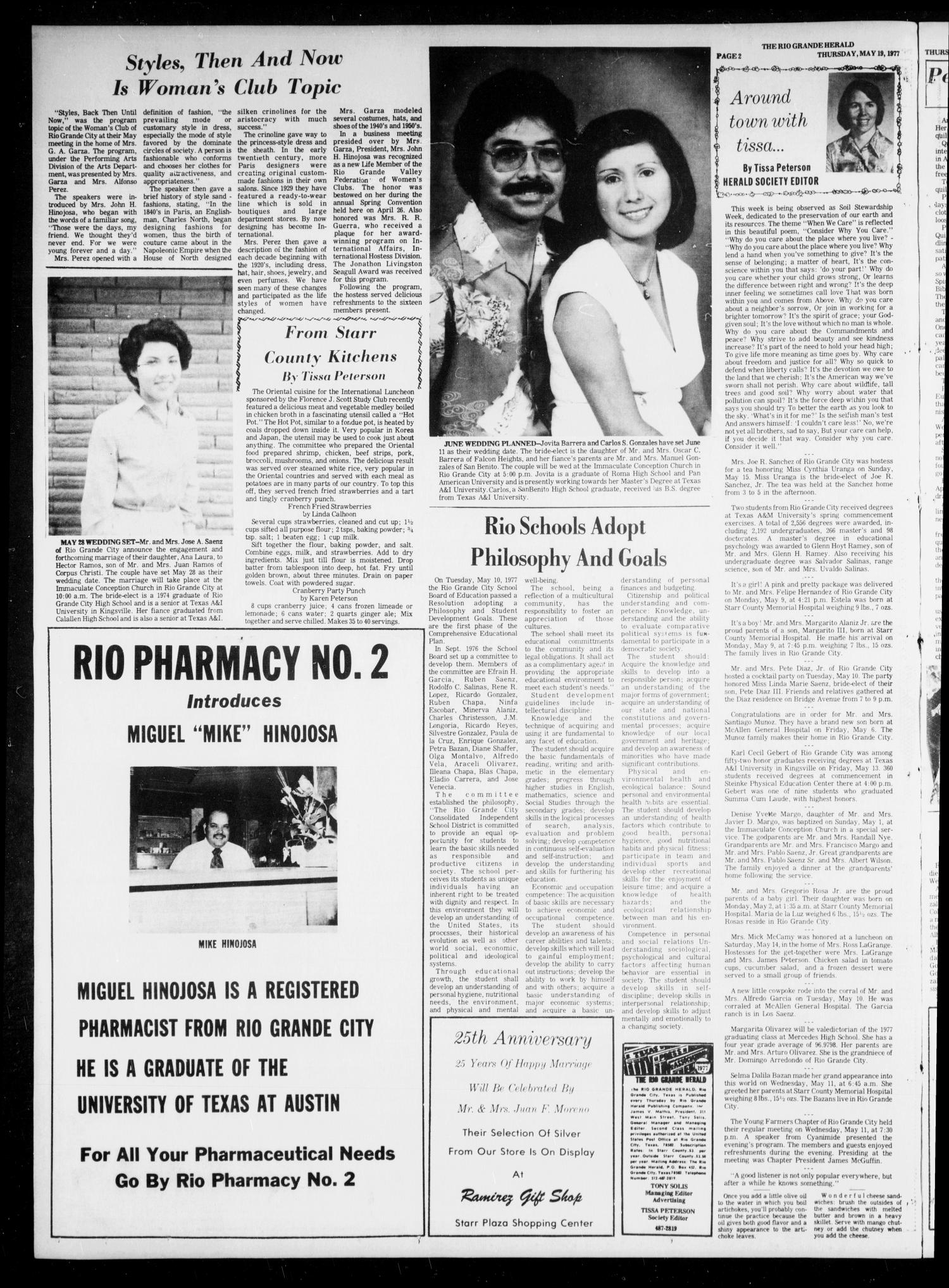 Rio Grande Herald (Rio Grande City, Tex.), Vol. 35, No. 31, Ed. 1 Thursday, May 19, 1977                                                                                                      [Sequence #]: 2 of 10