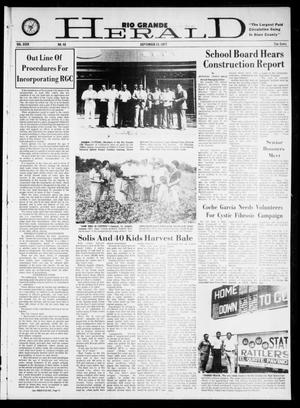 Primary view of object titled 'Rio Grande Herald (Rio Grande City, Tex.), Vol. 35, No. 48, Ed. 1 Thursday, September 15, 1977'.