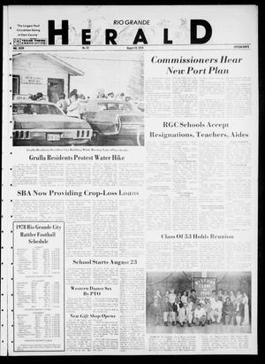 Primary view of object titled 'Rio Grande Herald (Rio Grande City, Tex.), Vol. 35, No. 43, Ed. 1 Thursday, August 10, 1978'.