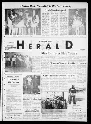 Primary view of object titled 'Rio Grande Herald (Rio Grande City, Tex.), Vol. 35, No. 61, Ed. 1 Thursday, December 14, 1978'.