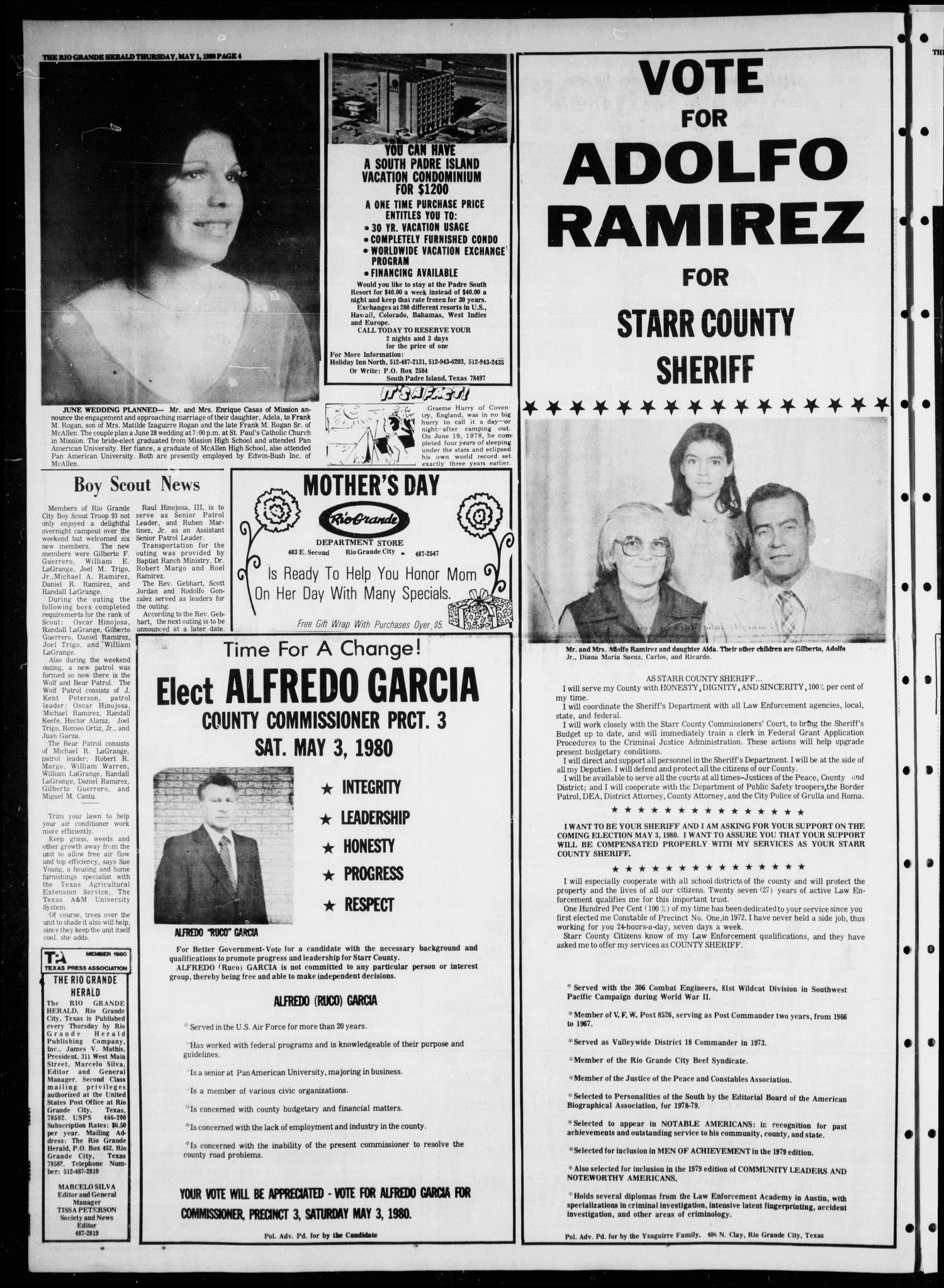 Rio Grande Herald (Rio Grande City, Tex ), Vol  35, No  33, Ed  1