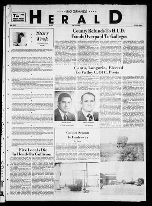 Primary view of object titled 'Rio Grande Herald (Rio Grande City, Tex.), Vol. 35, No. 45, Ed. 1 Thursday, July 24, 1980'.