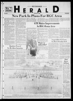 Primary view of object titled 'Rio Grande Herald (Rio Grande City, Tex.), Vol. 35, No. 53, Ed. 1 Thursday, September 18, 1980'.