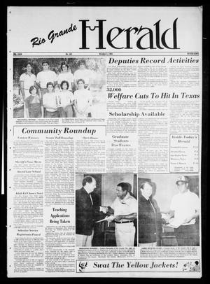 Primary view of object titled 'Rio Grande Herald (Rio Grande City, Tex.), Vol. 35, No. 107, Ed. 1 Thursday, October 1, 1981'.