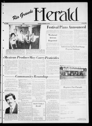Primary view of object titled 'Rio Grande Herald (Rio Grande City, Tex.), Vol. 36, No. 6, Ed. 1 Thursday, November 19, 1981'.