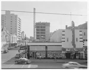 Primary view of object titled '[Congress Ave. and the State Theater]'.