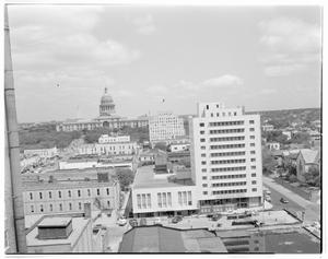 Primary view of object titled '[Aerial View-North towards Capitol]'.