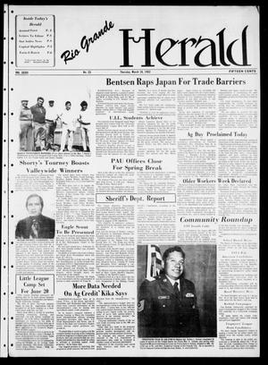 Primary view of object titled 'Rio Grande Herald (Rio Grande City, Tex.), Vol. 36, No. 23, Ed. 1 Thursday, March 18, 1982'.