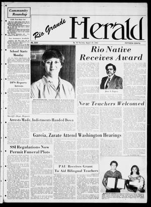 Primary view of object titled 'Rio Grande Herald (Rio Grande City, Tex.), Vol. 36, No. 44, Ed. 1 Thursday, August 19, 1982'.