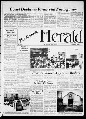 Primary view of object titled 'Rio Grande Herald (Rio Grande City, Tex.), Vol. 36, No. 45, Ed. 1 Thursday, August 26, 1982'.