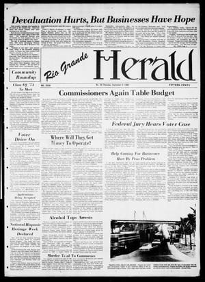 Primary view of object titled 'Rio Grande Herald (Rio Grande City, Tex.), Vol. 36, No. 46, Ed. 1 Thursday, September 2, 1982'.