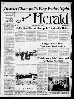 Primary view of object titled 'Rio Grande Herald (Rio Grande City, Tex.), Vol. 36, No. 57, Ed. 1 Thursday, November 18, 1982'.