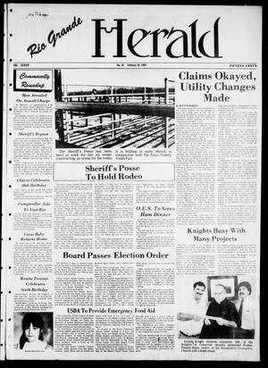 Primary view of object titled 'Rio Grande Herald (Rio Grande City, Tex.), Vol. 38, No. 16, Ed. 1 Thursday, February 16, 1984'.