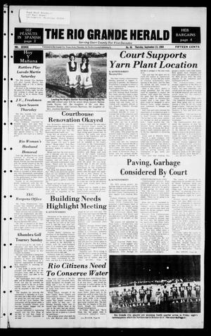 Primary view of object titled 'The Rio Grande Herald (Rio Grande City, Tex.), Vol. 38, No. 46, Ed. 1 Thursday, September 13, 1984'.