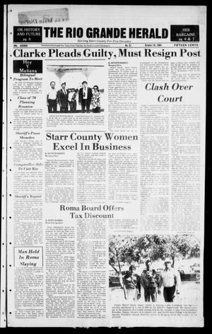 Primary view of object titled 'The Rio Grande Herald (Rio Grande City, Tex.), Vol. 38, No. 51, Ed. 1 Thursday, October 18, 1984'.